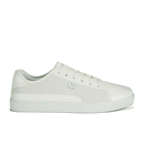 Beck & Hersey Men's Remis Perforated Trainers - White - UK 7