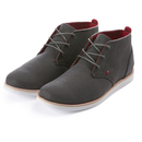 Boxfresh Men's Dalston Waxed Canvas Chukka Boots - Charcoal/Red - UK 8