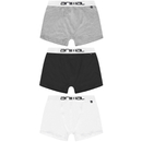 Animal Men's Asta 3-Pack Boxers - Black/White/Grey - L