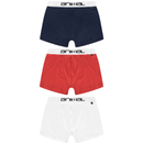 Animal Men's Brit 3-Pack Boxers - Red/Blue/White - L