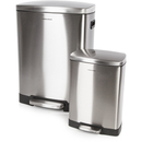 Morphy Richards 977100 Rectangular Pedal Bin Set  Stainless Steel  50L & 12L