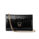 Aspinal of London Womens Manhattan Clutch Bag  Black