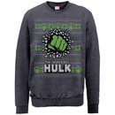 Marvel Comics Hulk Christmas Smash Sweatshirt - Dark Heather