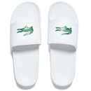 Lacoste Mens Frasier Slide Sandals  WhiteGreen  UK 7