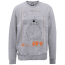 Star Wars The Force Awakens Technical BB-8 Zavvi Exclusive Sweatshirt - Heather Grey - M