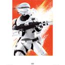 Star Wars : Episode VII - The Force Awakens Flametrooper - 60 x 80cm Paint Art Print Multi