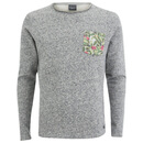 Jack & Jones Men's Originals Boom Pocket Sweatshirt - Light Grey Melange - L