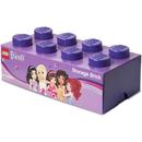 Paarse LEGO opbergsteen met 8 noppen
