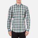 BOSS Orange Mens Edipoe Check Shirt  Green   XXL