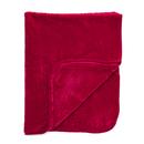 Luxurious Mink Faux Fur Throw  Red  125x150cm