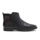UGG Australia Womens Demi Leather Flat Ankle Boots  Black  UK 3.5
