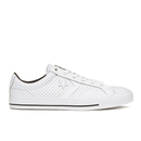 Converse Mens CONS Star Player Perforated Leather Trainers  WhiteBlack  UK 8