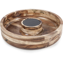Image of Natural Life NLAS005 Acacia Chip & Dip with Slate Plate