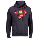 DC Comics Men's Superman Distress Logo Hoody - Petrol Blue