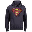 DC Comics Men's Superman Distress Logo Hoody - Petrol Blue