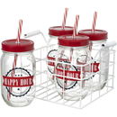 'Happy Hour' Drinks Jars (Set of 4) Claro