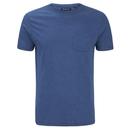 Brave Soul Men's Arkham Pocket T-Shirt - Vintage Blue