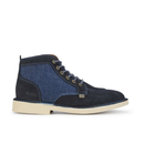 Kickers Men's Legendary Suede Lace Up Boots - Dark Blue - UK 8
