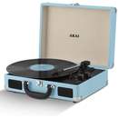 Akai A60011N Rechargeable Turntable and Case - Blue
