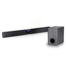 Steljes Audio Erato TV Sound Bar with Wireless Sub Woofer - Black/Silver