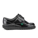 Kickers Women's Kick Lo Patent Lace Up Shoes - Black - UK 4