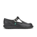 Kickers Women's Kick Lo Aztec T-Bar Shoes - Black - UK 4/EU 37
