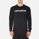 Converse Mens All Star Shield Reflective Print Crew Sweatshirt  Black  S