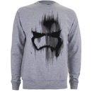 Star Wars Men's Storm Trooper Mask Sweatshirt - Light Grey Marl
