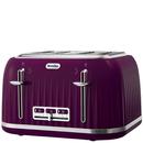 Breville VTT634 Impressions 4 Slice Toaster  Damson