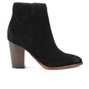 Sam Edelman Womens Blake Suede Heeled Ankle Boots  Black  UK 4US 6