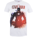 Marvel Men's Captain America Civil War Stance T-Shirt - White
