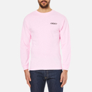 OBEY Clothing Mens Mother Earth Long Sleeve TShirt  Pink  S