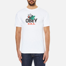 OBEY Clothing Mens Dead On Arrival TShirt  White  S