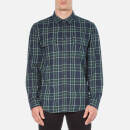 OBEY Clothing Mens Highland Plaid Flannel Shirt  Green Multi  S