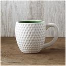 Tee Time Mug White-Green