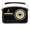 GPO Retro Rydell Portable DAB Radio Black