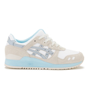 Asics Womens GelLyte III Crystal Blue Pack Trainers  WhiteLight Grey  UK 7