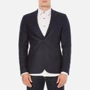 J.Lindeberg Mens Hopper Silk Tweed Jacket  Blue  M
