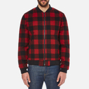Penfield Mens Glendale Buffalo Plaid Jacket  Red  M