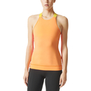 adidas Women's Stellasport Gym Tank Top Orange-Pink L-UK 16-18