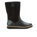 Clarks Womens Glick Elmfield Faux Fur Lined Knee High Boots  Black Combi  UK 4