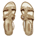 Melissa Womens Campana Barocca 16 Sandals  Gold  UK 3