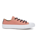 Converse Womens Chuck Taylor All Star II Shield Canvas Ox Trainers  Pink BlushWhiteRelic Gold  UK 5