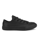 Converse Kids Chuck Taylor All Star Leather Ox Trainers  Black  UK 10.5 Kids