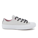 Converse Womens Chuck Taylor All Star II Shield Canvas Ox Trainers  MouseWhiteIcy Pink  UK 6