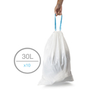 979004 Lemon Scented 30L Liners x10 Blanco