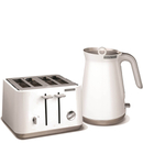 Morphy Richards Aspect Steel 4 Slice Toaster and Kettle Bundle  White