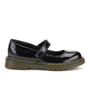 Dr. Martens Kids Maccy Patent Leather Mary Jane Shoes  Black  UK 2 Kids