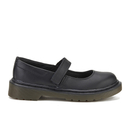 Dr. Martens Kids Maccy Leather Mary Jane Shoes  Black  UK 10 Kids