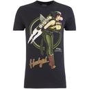 DC Comics Bombshells Men's Hawkgirl T-Shirt - Black